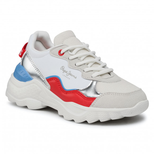 Sneakers PEPE JEANS - Eccles Junior PGS30490  White 800