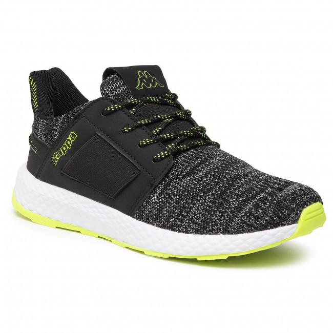 Sneakers KAPPA - Feeny 242683 Black/Lime 1133