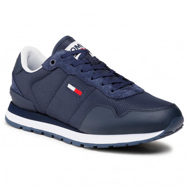 Sneakers TOMMY JEANS - Lifestyle Mix Runner EM0EM00668 Twillight Navy C87