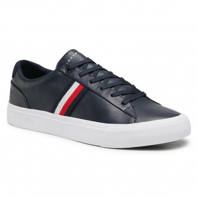 Sneakers TOMMY HILFIGER - Corporate Leather Sneaker FM0FM03397 Desert Sky DW5
