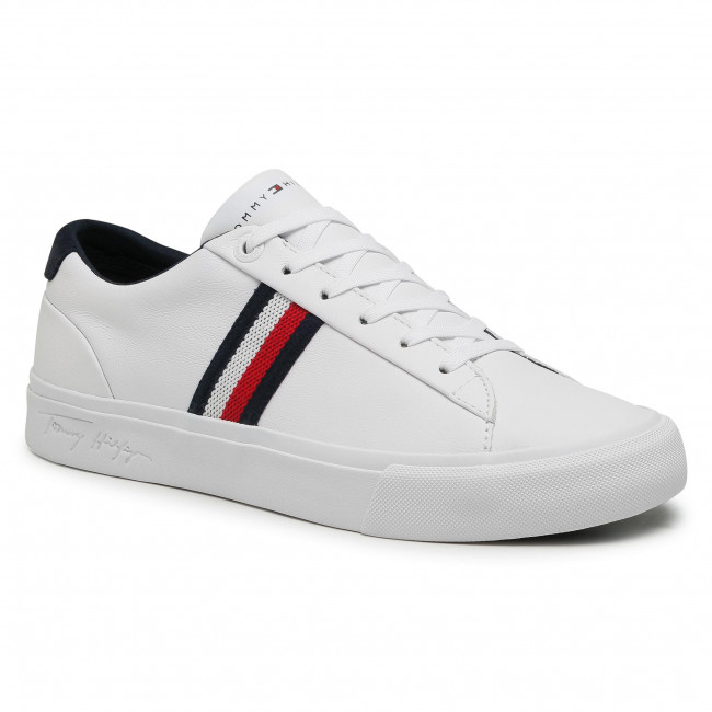 Sneakers TOMMY HILFIGER - Corporate Leather Sneaker FM0FM03397 White YBR