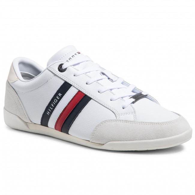Sneakers TOMMY HILFIGER - Corporate Material Mix Cupsole FM0FM03429 White YBR