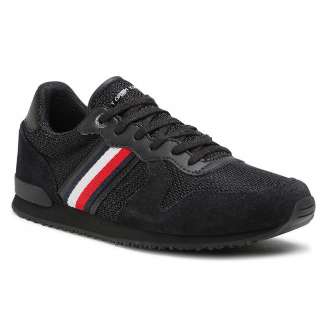 Sneakers TOMMY HILFIGER - Iconic Material Mix Runner FM0FM03470 Black BDS