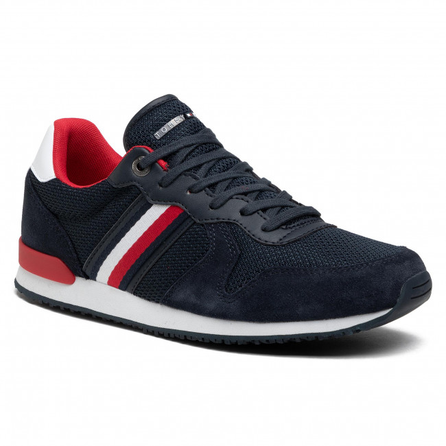 Sneakers TOMMY HILFIGER - Iconic Material Mix Runner FM0FM03470 Desert Sky DW5