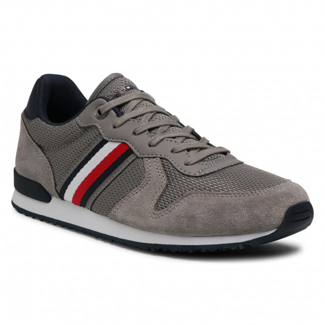 Sneakers TOMMY HILFIGER - Iconic Material Mix Runner FM0FM03470 Pewter Grey PQ8