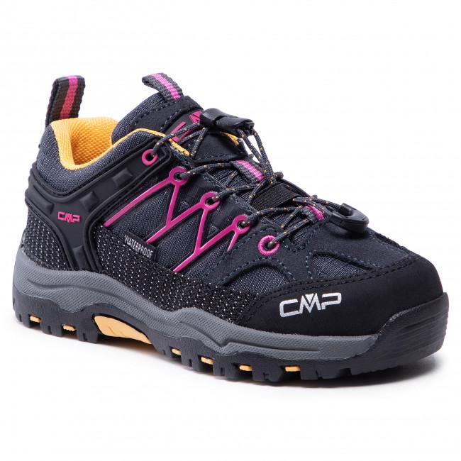 Scarpe da trekking CMP - Kids Rigel Low Trekking Shoe Wp 3Q54554 Antracite/Bouganville 54UE