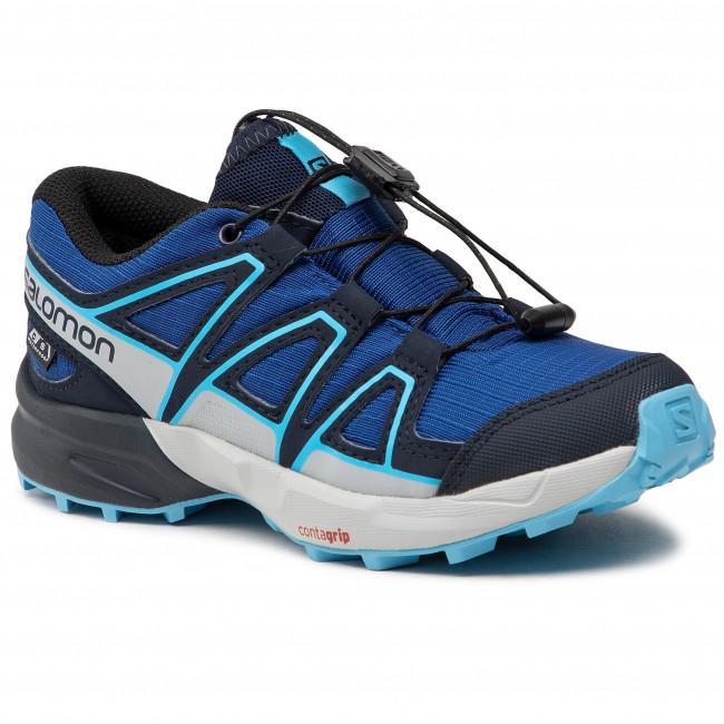 Scarpe da trekking SALOMON - Speedcross Cswp J 411251 09 M0 Surf The Web/Navy Blazer/Ethereal Blue