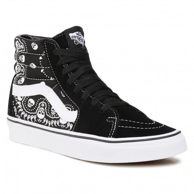 Sneakers VANS - Sk8-Hi VN0A32QGD9S1 (Bandana) Black/Truewhite