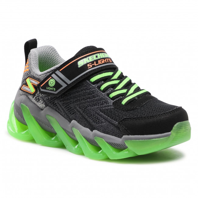 Sneakers SKECHERS - S Lights 400130L/BKLM Black/Lime