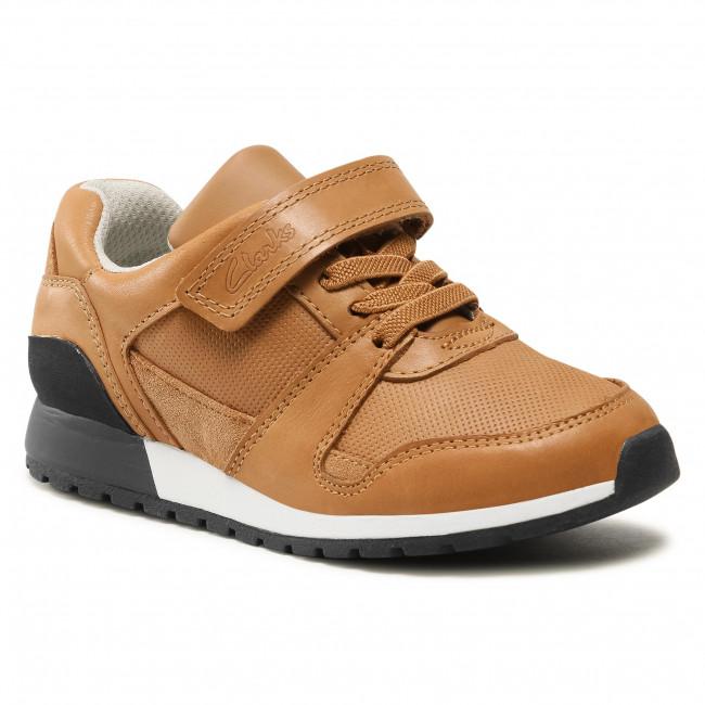 Sneakers CLARKS - Retro Run K 261583837 Tan Leather