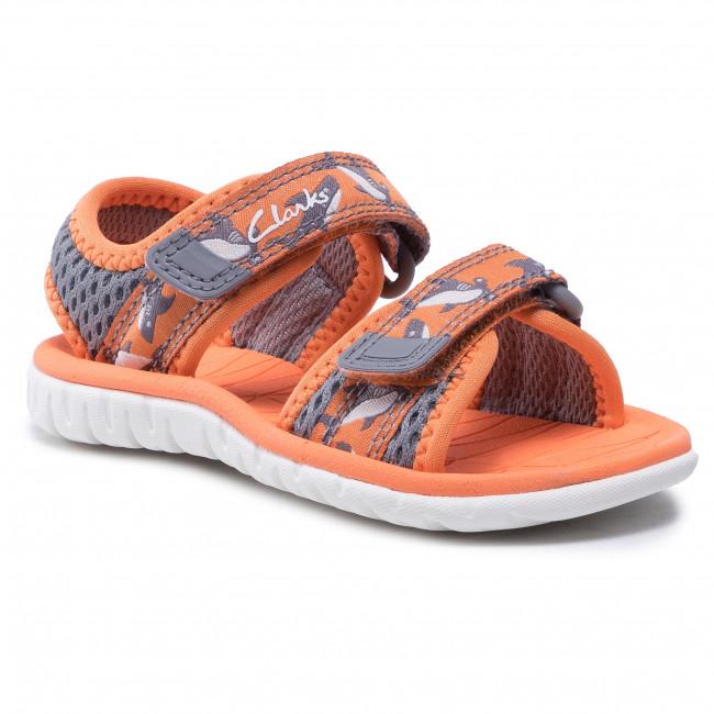 Sandali CLARKS - Surfing Tide T 261563507  Orange Textile