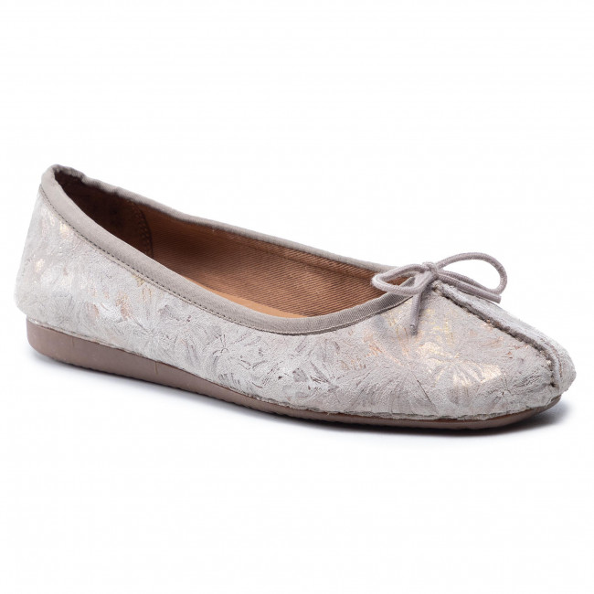 Ballerine CLARKS - Freckle Ice 261475564 Taupe Leather