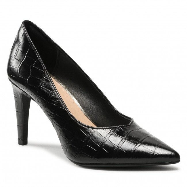 Scarpe stiletto CLARKS - Genoa85 Court 261596874 Black Croc