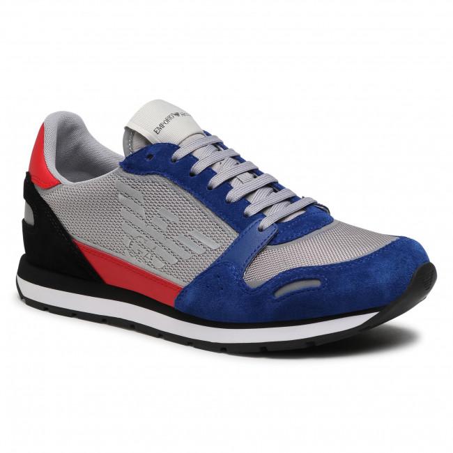 Sneakers EMPORIO ARMANI - X4X537 XM678 N641 Bluet/Grey/Red/Blk