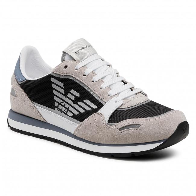 Sneakers EMPORIO ARMANI - X4X537 XM678 Q091 Plast/Op. Wht/Navy/Gr