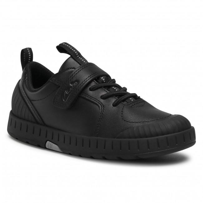 Sneakers CLARKS - Apollo Step K 261470466 Black Leather