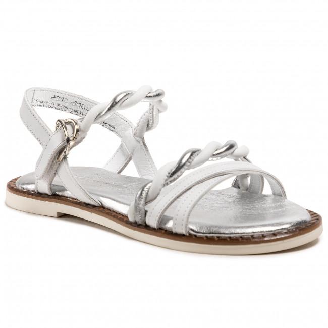 Sandali TAMARIS - 1-28148-26 White/Silver 171