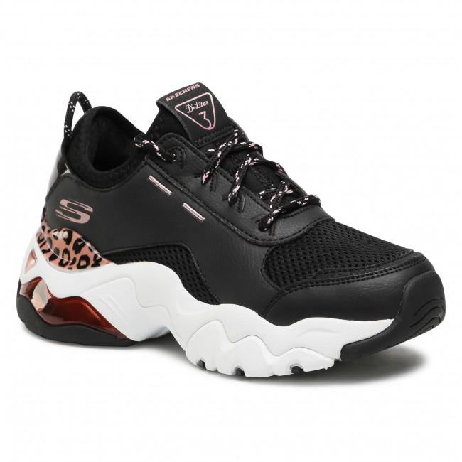 Sneakers SKECHERS - D'lites Queen Leopard 149087/BKRG Black/Rose/Gold