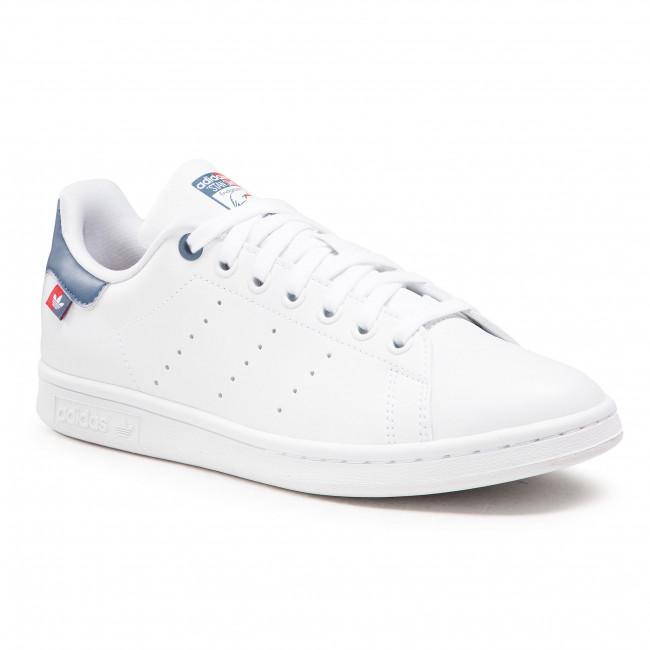 Scarpe adidas - Stan Smith FX5548 Ftwwht/Scarle/Creblu