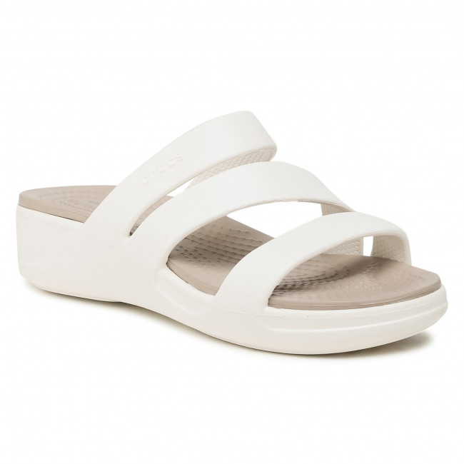 Ciabatte CROCS -  Monterey Strappy Wedge W 206304 Oyster