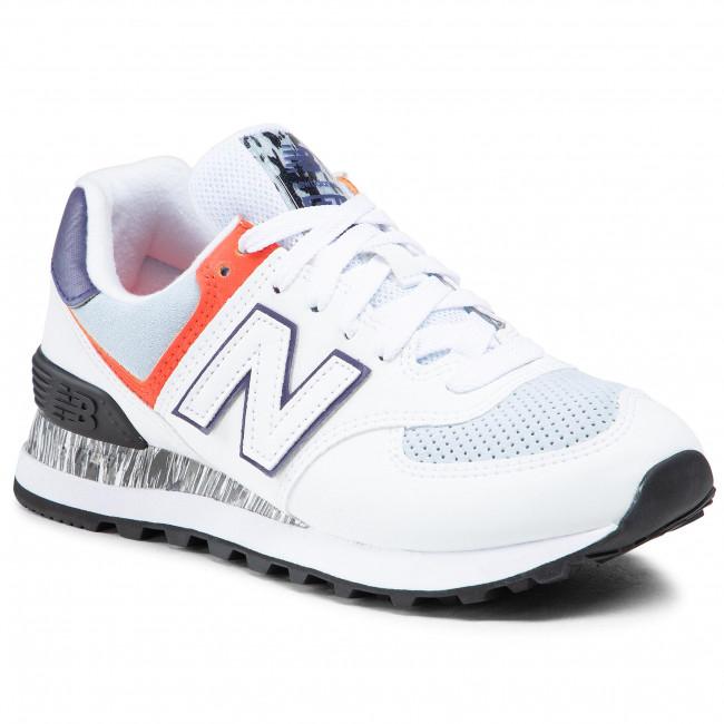Sneakers NEW BALANCE - WL574CS2 Bianco Multicolore