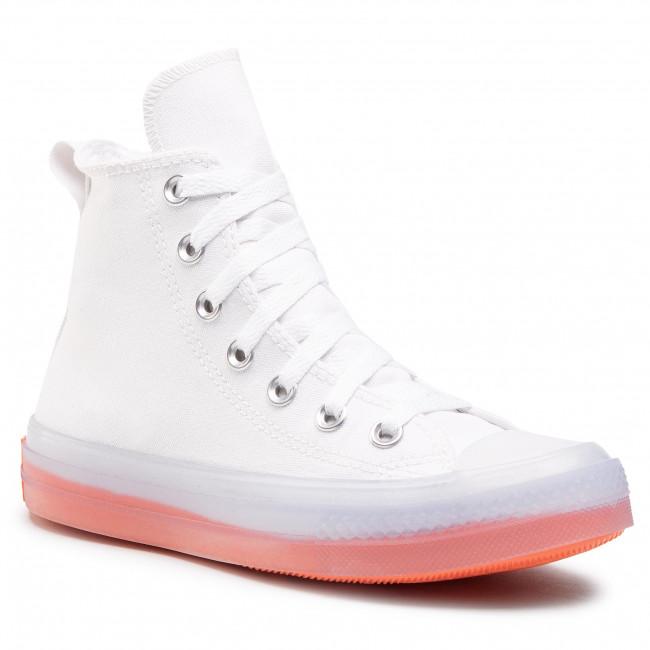 Scarpe sportive CONVERSE - Ctas Cx Hi 167807C White/Clear/Wild Mango