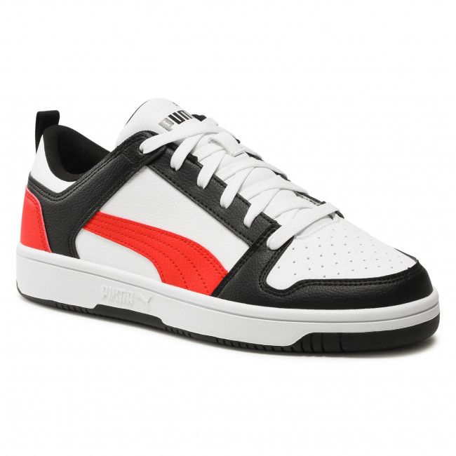 Sneakers PUMA - Rebound Layup Lo Sl 369866 14 White/Poppy Red/Puma Black