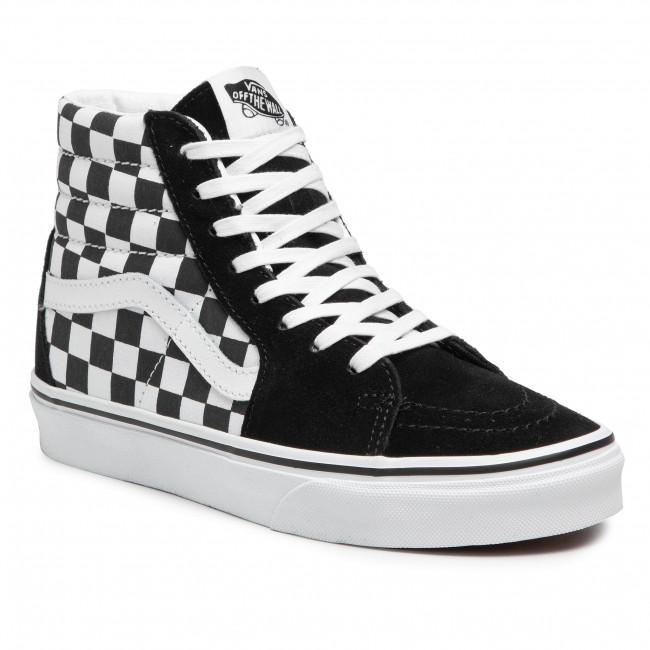 Sneakers VANS - Sk8-Hi VN0A32QGHRK1 (Checkerboard) Blk/Tr Wht