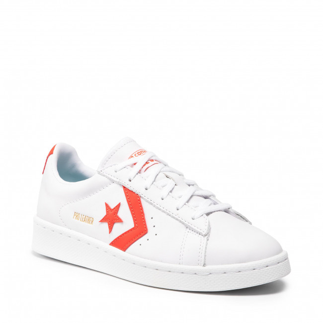 Sneakers CONVERSE - Pro Leather Ox 170756C White/Bright Poppy/White