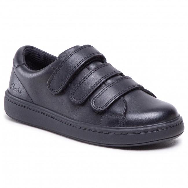 Sneakers CLARKS - Street Swift K 261494026  Black Leather