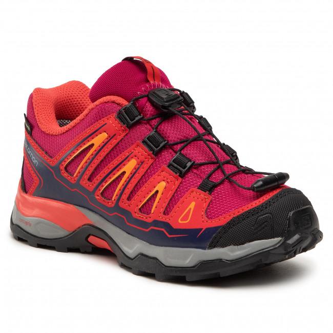 Scarpe da trekking SALOMON - X-Ultra Gtx J GORE-TEX 392917 09 W0 Sangria/Poppy Red/Bright Marigold