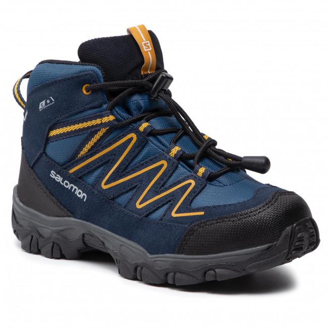 Scarpe da trekking SALOMON - Skookie Mid Cswp J 411295 17 V0 Sargasso Sea/Navy Blazer/Arrowwood