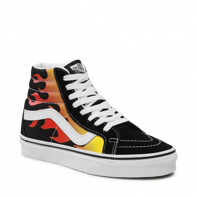 Sneakers VANS - Sk8-Hi Reissue VN0A2XSBPHN1  (Flame) Black/Black/Tr Wht