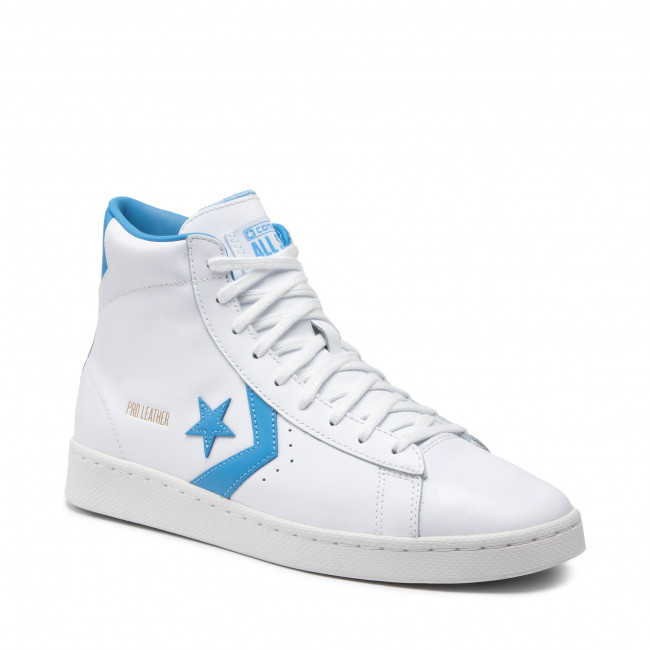 Sneakers CONVERSE - Pro Leather Mid 166813C White/Coast Blue/White