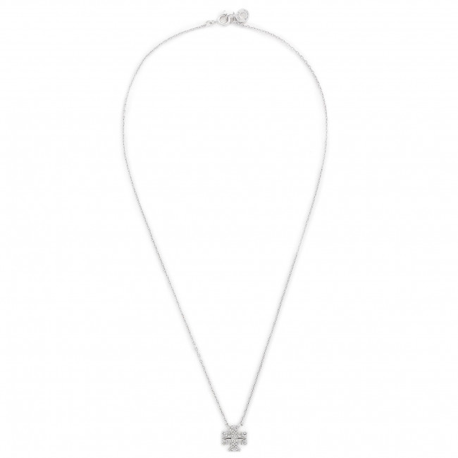 Collana TORY BURCH - Kira Pave Delicate Necklace 61725 Tory Silver/Crystal 020