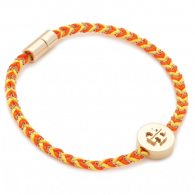Bracciale TORY BURCH - Kira Braided Bracelet 78923 Tory Gold/Goldfinch/Candied Orange 704
