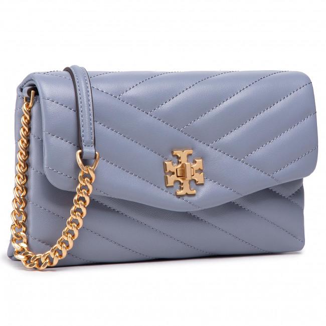 Borsetta TORY BURCH - Kira Chevron Chain Wallet 64068 Cloud Blue/Rolled Brass 042