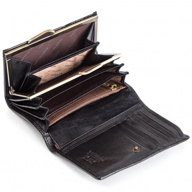 Portafoglio piccolo da donna WITTCHEN - 25-1-070-1 Nero - Portafogli per donna - Portafogli - Pelletteria - Accessori