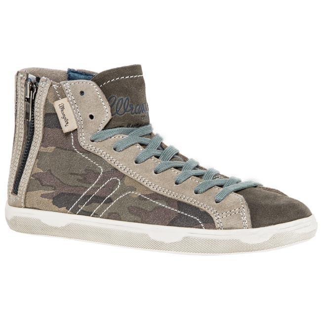 Sneakers WRANGLER - Jasper Zip Camouflage WM132032 Military Camo 213