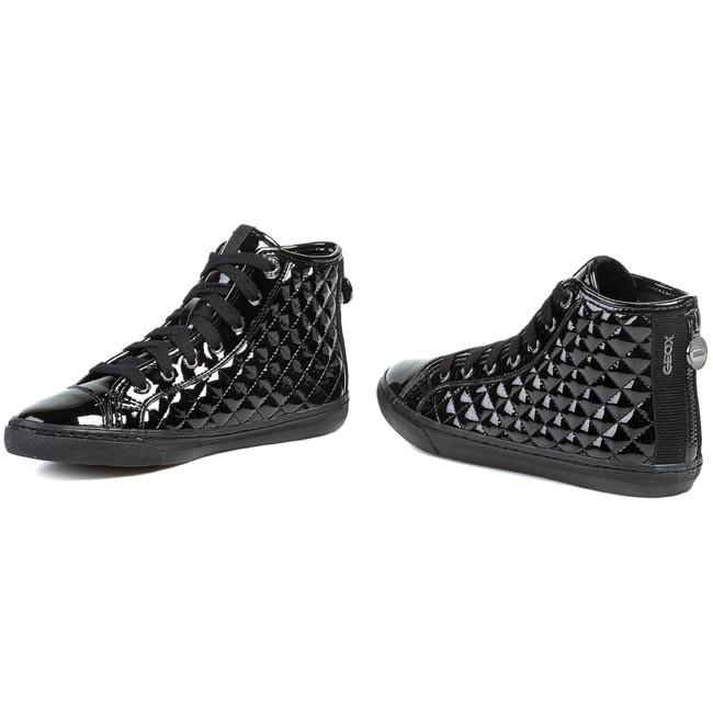 abbigliamento geox, Donna Sneakers Geox NEW CLUB Nero ,geox