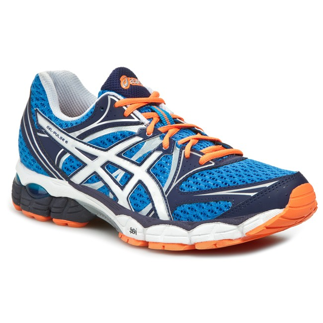 Scarpe ASICS Gel Pulse 6 T4A3N BlueWhiteFlash Orange 4201
