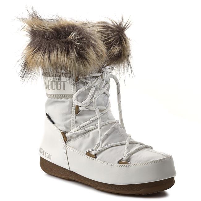 foto ufficiali fa80b ef536 Stivali da neve MOON BOOT - Monaco Low 24002900002 Bianco/White