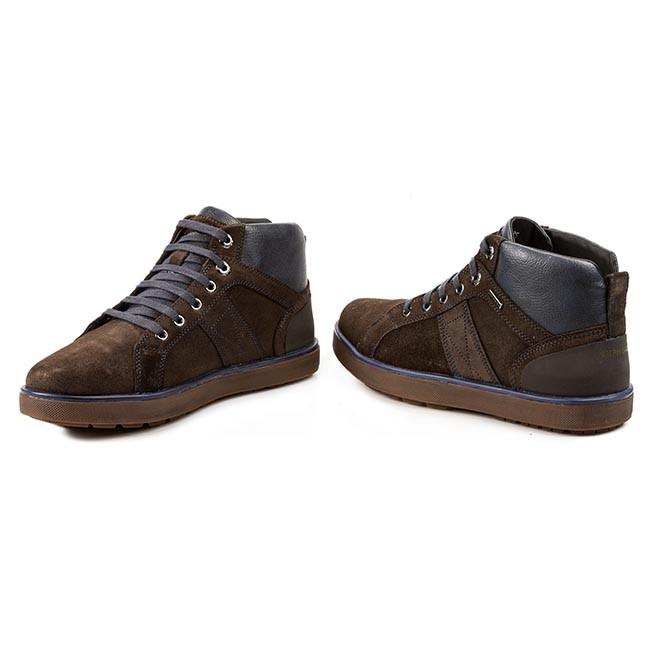 Offerte scarpe scarpe GEOX Polacco Mattias in pelle marrone