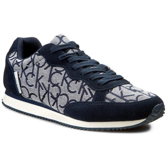 Sneakers CALVIN KLEIN JEANS Major Ck Logo JacquardSuede SE8369 Navy