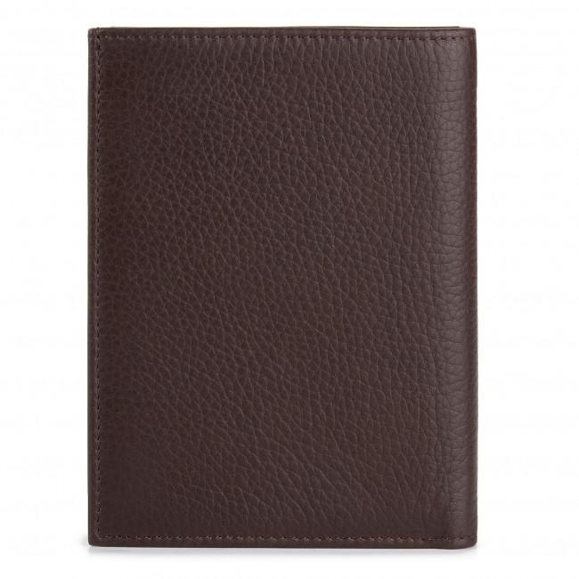 Dark Pocket Portafogli Per Accessori Verical Portafoglio Tumbled Uomo Jeans 71w00002 Trussardi Coin Pelletteria Wallet Da Grande Brown B220 dBWxCore