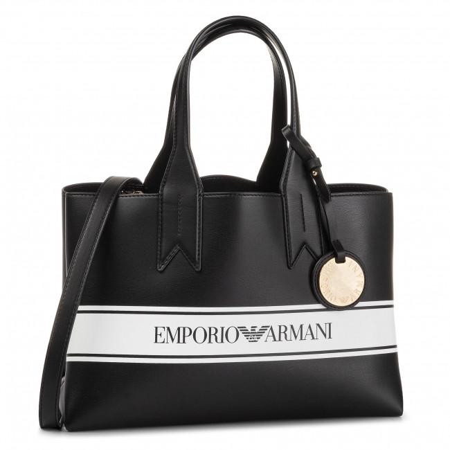 klassische Passform große Auswahl an Designs großer Diskontverkauf Borsa EMPORIO ARMANI - Y3D153 YFG7A 88007 Nero/Bianco