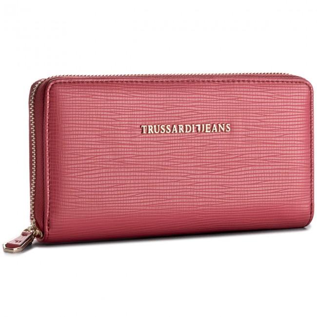 f0d0e0c40e Portafoglio grande da donna TRUSSARDI JEANS - Wallet Zip Around 75W00015  P201