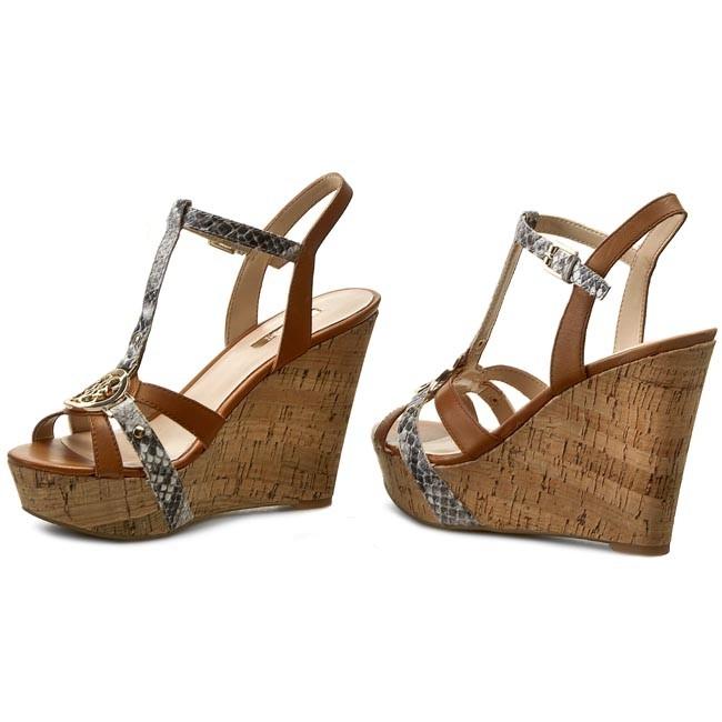 Sandali guess escarpe marroni senza tacco