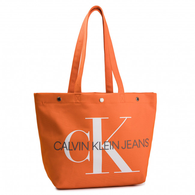 Borsetta CALVIN KLEIN JEANS - Canvas Utility Ew Bottom Tote M K60K605310 805