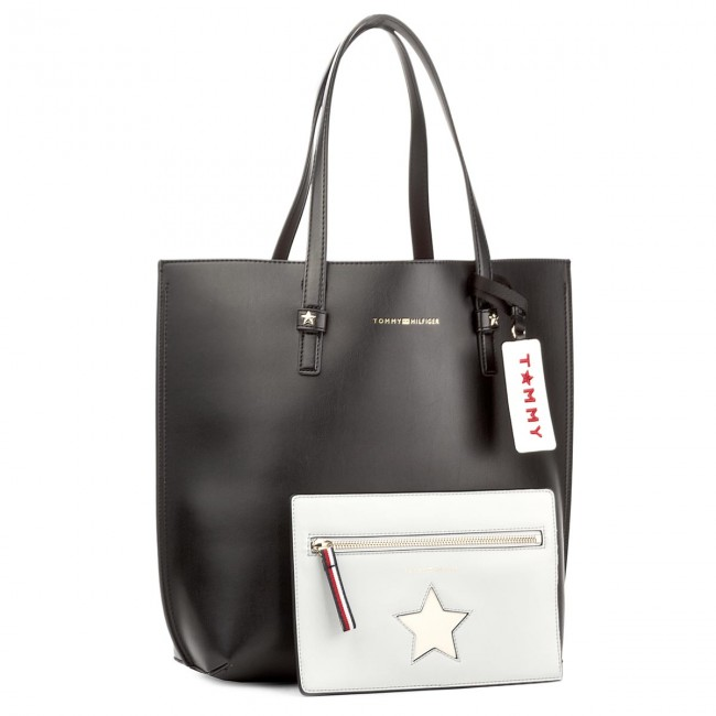 Borsa TOMMY HILFIGER Th Effortless Tote Lrg AW0AW04853 002